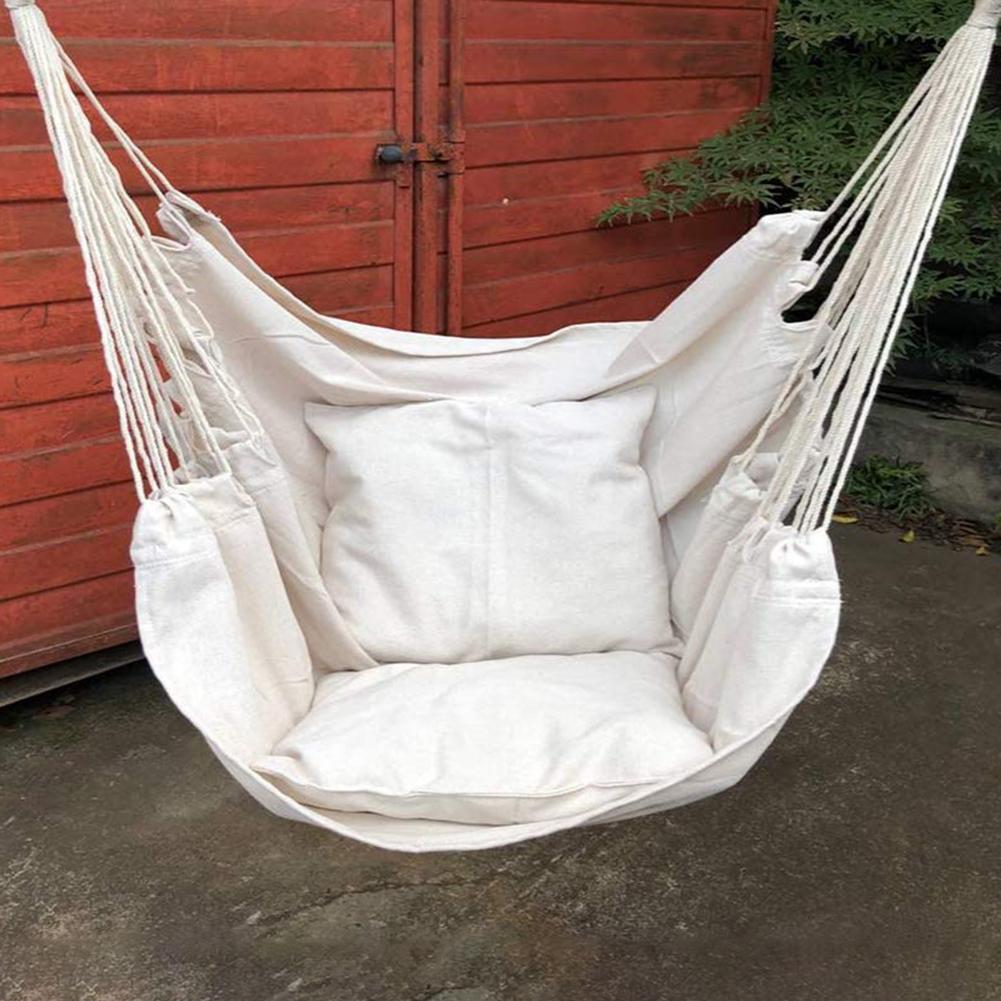 Outdoor Portable Thicken Hammock Garden Travel Camping Throw Pillow Swing Chair Hammock Garden Swing Chair Hammock Garden Hammoc