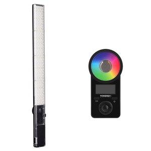 Image 2 - Yongnuo yn360 iii yn360iii bi color handheld luz de vídeo led toque ajustando 3200k  5500k rgb colortemperature com controle remoto
