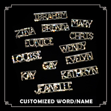 Custom English Letters Lapel Pin Personalized Name & Word Brooch Bling Rhinestone Badge Handmade Unique Customized Gift