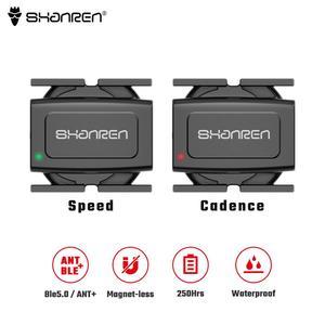 SHANREN датчик скорости Bluetooth ANT + беспроводной датчик для мотоцикла Датчик велосипеда совместим с Zwift