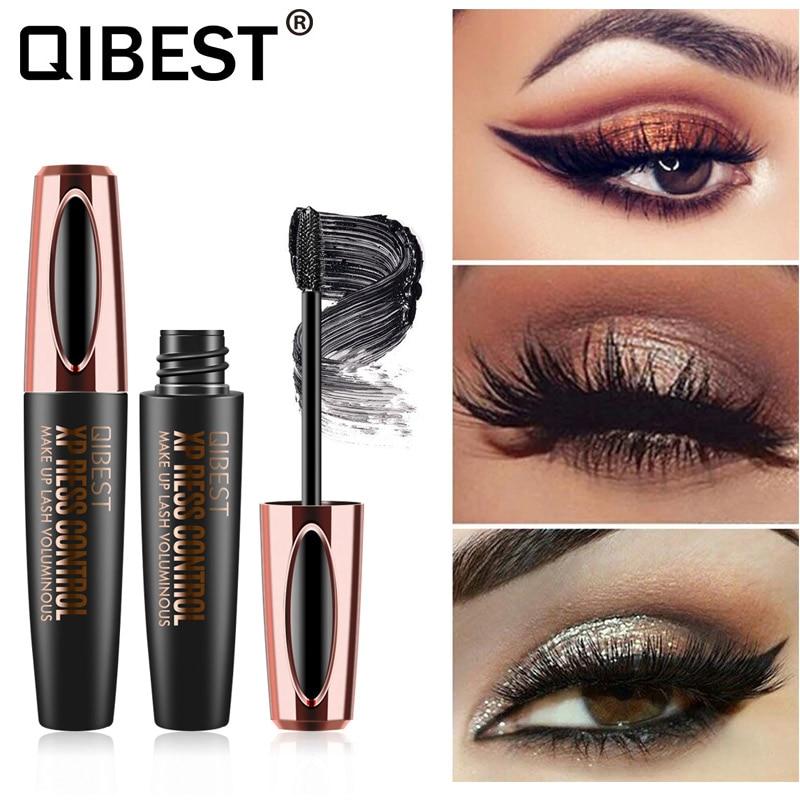 4D Silk Fiber Lash Mascara Waterproof Rimel 3d Mascara For Eyelash Extension Black Thick Lengthening Eyelashes Cosmetics