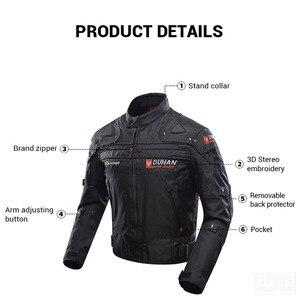 Image 4 - DUHAN Windproof รถจักรยานยนต์ชุดป้องกันเกียร์เกราะรถจักรยานยนต์แจ็คเก็ต + รถจักรยานยนต์กางเกง Hip Protector Moto เสื้อผ้าชุด
