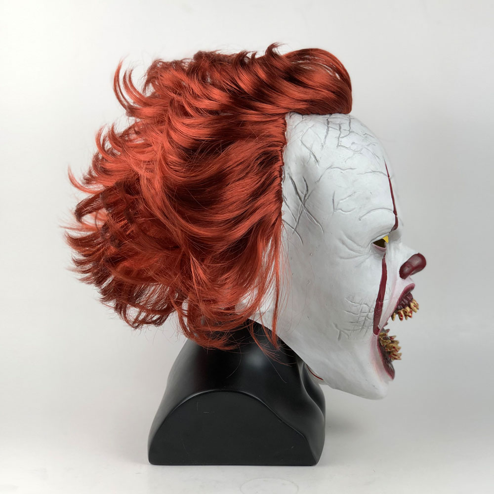 Image 5 - LED Horror Pennywise Joker Mask Cosplay Stephen King It Chapter Two Clown Latex Masks Helmet Halloween Party Props Deluxe New-in Boys Costume Accessories from Novelty & Special Use