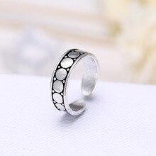 Anillos de dedos de mujer círculo redondo moda 100% Plata de Ley 925 joyería promoción mujeres estudiantes chicas anillo No se desvanece