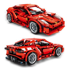 701501 Technic Power FRR-458 Super Race CarMOC Model Building Blocks Compatible with 20001 20086 42056 Toys(China)