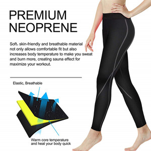 Image 4 - 2019 Women Sauna Weight Loss Slimming Pants Workout Neoprene Pants Side Pocket Heat Thermo Sweat Legging casual trousers clothes