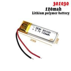 3,7 В 120 мАч 301030 литий-полимерный аккумулятор для Bluetooth гарнитуры умный Браслет Часы камера GPS игрушки Lipo cells