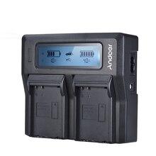 Andoer NP-FZ100 зарядное устройство для камеры sony двухканальный ЖК-дисплей зарядное устройство для камеры sony A7III A9 A7RIII A7SIII