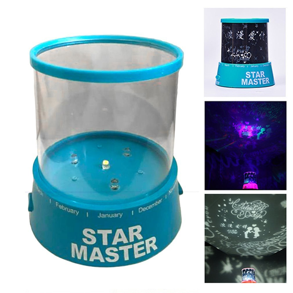 Newest LED Night Light Projector Starry Sky Star Moon Master Children Kids Baby Sleep Romantic Colorful Led USB Projection Lamp