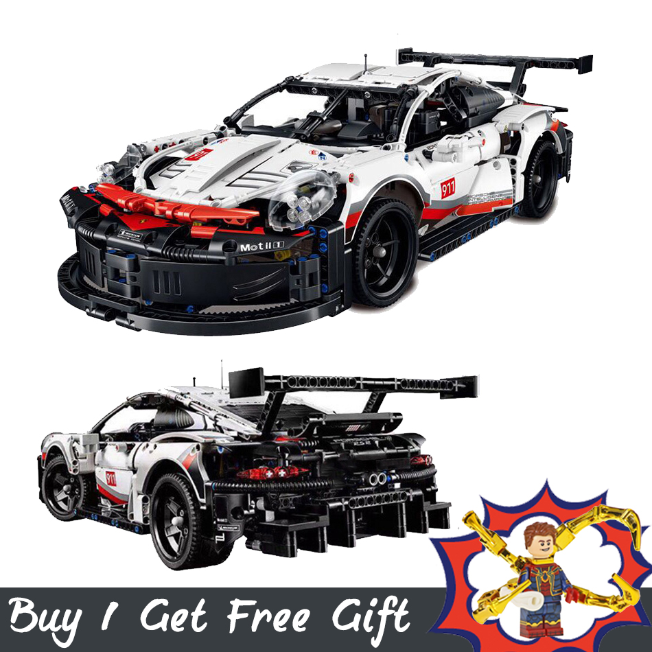 911 RSR Super car Model Set Building Blocks Technic Series Compatible with <font><b>legoinglys</b></font> <font><b>42056</b></font> Toys Christmas Gift Free Shipping image