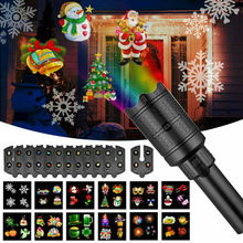 AA Waterproof Moving Laser Projector Lamps 12 Patterns LED Stage Light For Christmas New year Party Light Landscape Garden Lamp 16 patterns christmas led projector light new year laser snowflake projection stage light waterproof home garden lawn lamp