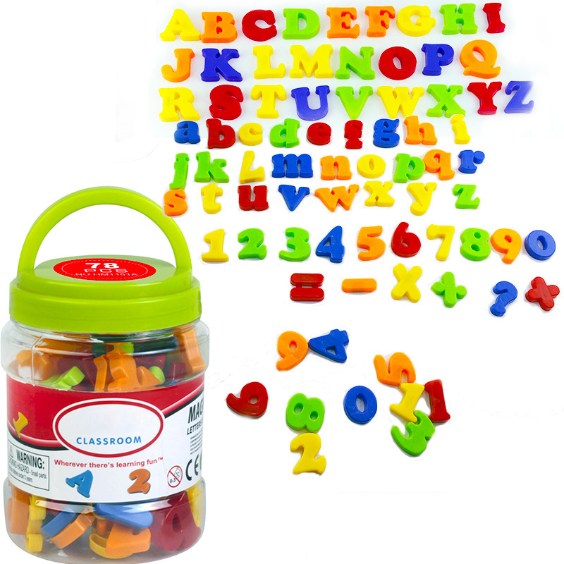 78PCS Fridge Stickers Magnetic Letters Numbers Alphabet Refrigerator Magnet Magnets Kids Gift Early Education Toys