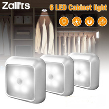 Wall-Lamp Sensing-Lights Cabinet Stairs Human-Motion-Sensor Automatic Led Wireless Closet