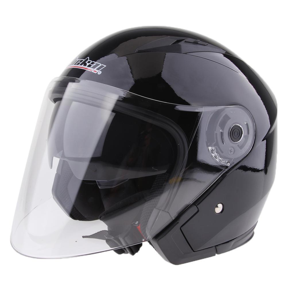 Мотоциклетный велосипед 3/4 открытый полушлем полный щит козырек шлемы лицо открытое двойное лицо зеркальный шлем мотоциклетный шлем M-XXL