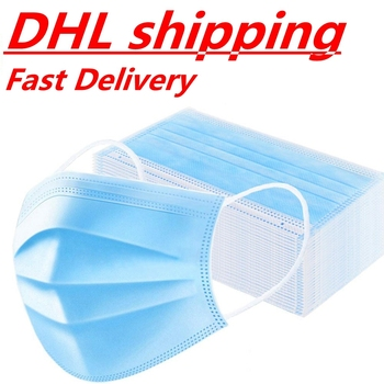 DHL Wholesale 1000 pcs Disposable Mask Face Mouth Masks Safety Face Mouth Mask Disposable Personal Protection