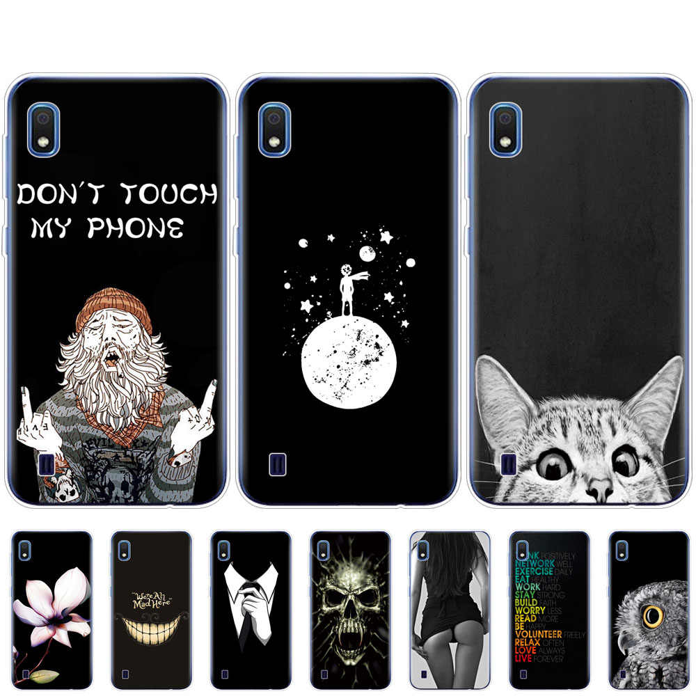 For Samsung A10 Case coque Soft Silicone phone Cover on For Samsung Galaxy A10 GalaxyA10 A 10 bumper SM-A105F A105 A105F black
