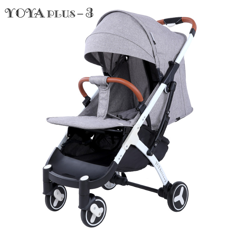 ея плюс - 2019 YOYAPLUS 3 baby stroller light folding umbrella car can sit can lie ultra-light portable on the airplane