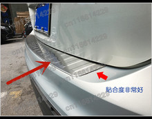 stainless steel Rear Bumper Protector Sill Trunk Tread Plate Trim For VW/Volkswagen Tiguan 2017 2018 2019 2020 2021 Car styling