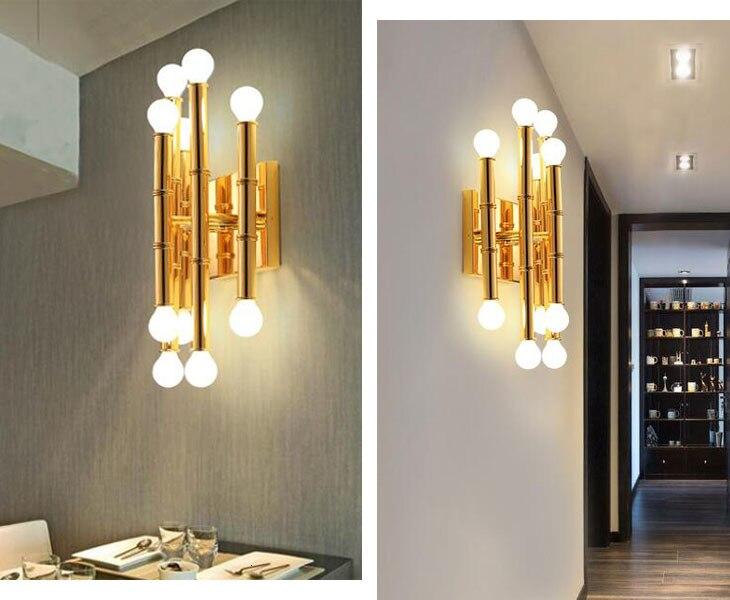 Art Design Gold Copper Wall Lamp For Hotel Aisle Deco Maison Luminaire Applique lustre led light fixtures