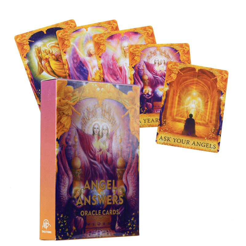 New Style Angel Answers Oracle Cards Tarot Deck English Version Divination Collection Card Game Family Board Game