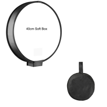 Buy Camera Photo Accessories 40cm Foldable Round On-top Soft Box Flash Diffuser Speedlight Softbox for for Nikon/Canon/Yongnuo Sonys directly from merchant!