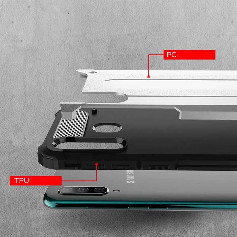 360 darbeye dayanıklı koruma zırh samsung kılıfı Galaxy J4 artı J6 artı 2018 telefon kılıfı üzerinde M10 M20 30 A40 A50 A60 A70 arka kapak