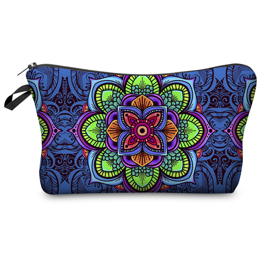 3D Digital Printing Mandala Makeup Bag Collection Graphic Customization Storage Wash Bag Women's Travel Pouch Women Cosmetic Bag