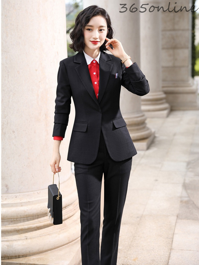Formal Uniform Designs Pantsuits High Quality Fabric Women Business Suits With Pants And Jackets OL Styles Professional Blazers