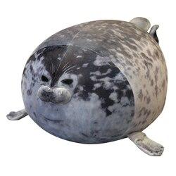 Lindo león marino juguetes de peluche 3D novedad almohadas suave sello de peluche de felpa de peluche de bienvenida fiesta de bienvenida almohada
