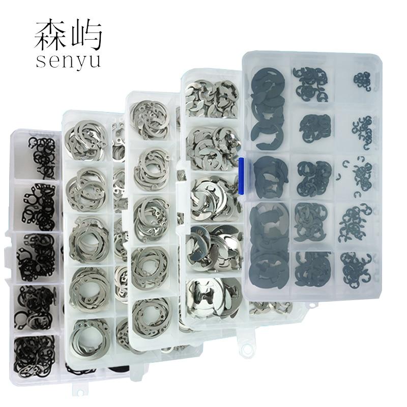 C-type Elastic Seals Snap Retaining Washers Circlip Ring Kit Washer