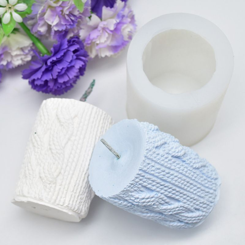 3D Sweater Sleeve Shaped Candle Mold Silicone Aroma DIY Cake Mold Candle Gypsum Clay Making DIY Cake Chocolate Decor