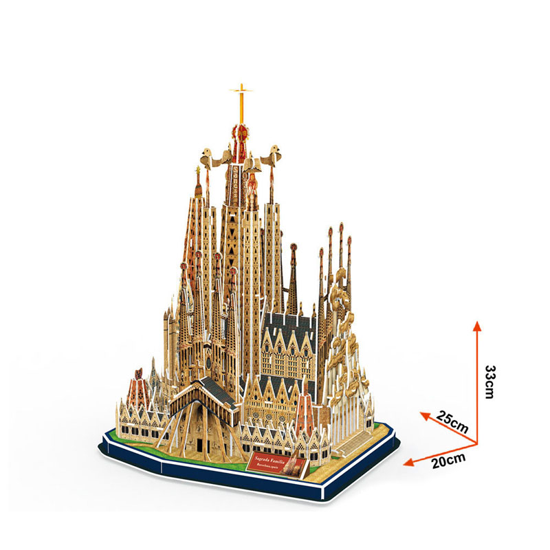 3D Puzzle Building DIY Creative Bricks Toys For Children Sagrada Family Cathedral Model World Famous Buildings