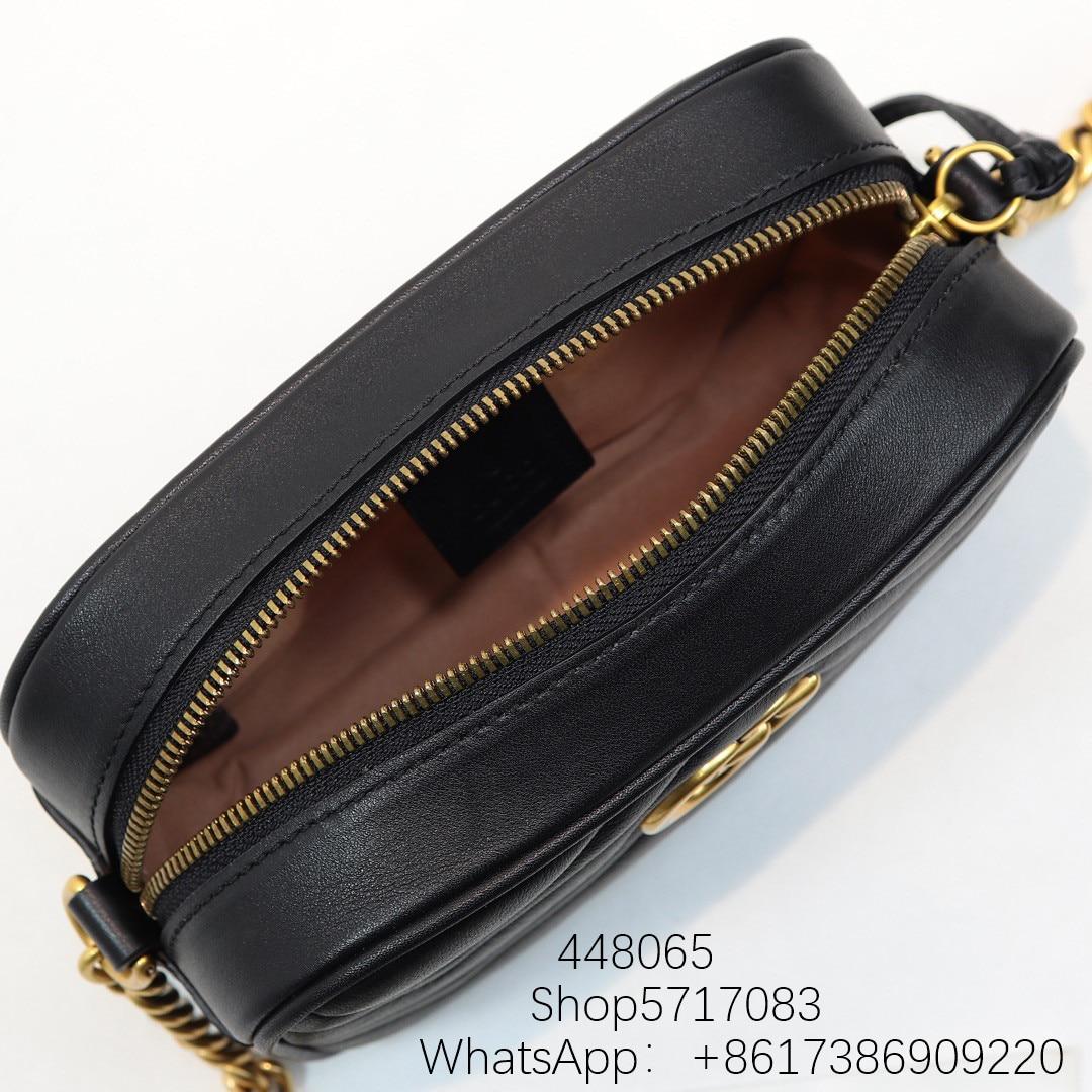 2020 Top quality Women's Shoulder Crossbody Bags metal chains zipper bag  fashion luxury designer Genuine Leather Lady bags