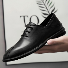 New Vintage Men Genuine Leather Shoes Brand Pointed Toe Formal Shoes Male Business Office Oxfords For Men High Quality Men Shoes new arrival genuine leather men dress shoes men s pointed toe flat oxfords shoes fashion formal business for male zapatos hombre
