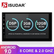 Автомагнитола Isudar универсальная 2 Din на Android 9 для Nissan/Xtrail/Tiida/Hyundai/KIA, мультимедийное видео с GPS, 8 ядер, ОЗУ 2 Гб ПЗУ 32 Гб