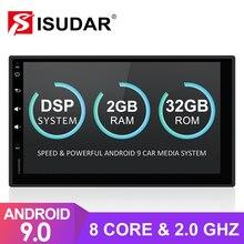 Isudar autoradio universel sous Android 9, 8 cœurs, 2 go de RAM, 32 go de ROM, lecteur multimédia vidéo, pour Nissan/Xtrail/Tiida, Hyundai, KIA, 2 Din