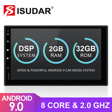 Isudar evrensel 2 Din Android 9 otomobil radyosu Nissan/Xtrail/Tiida/Hyundai/KIA araba multimedya Video GPS 8 çekirdekli RAM 2GB ROM 32GB