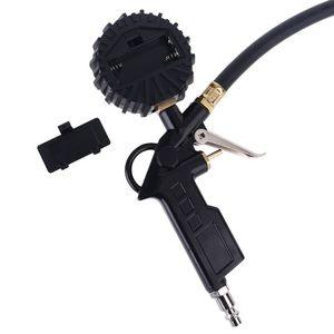 Image 5 - דיגיטלי צמיג Inflator מד לחץ עם כפול ראש צ אק עבור מכונית משאית RV אופניים