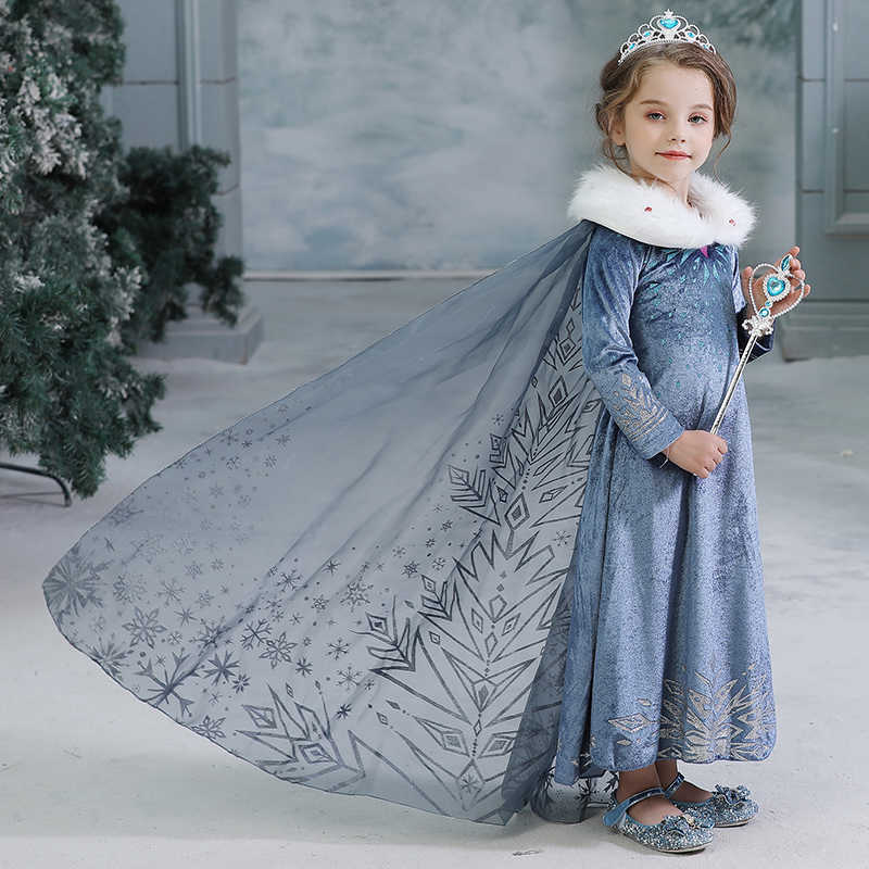 Baby Girl Anna Elsa Halloween Costume Cinderella Rapunzel Dress Princess Sleeping Beauty Kids Christmas Dresses for Girls Party