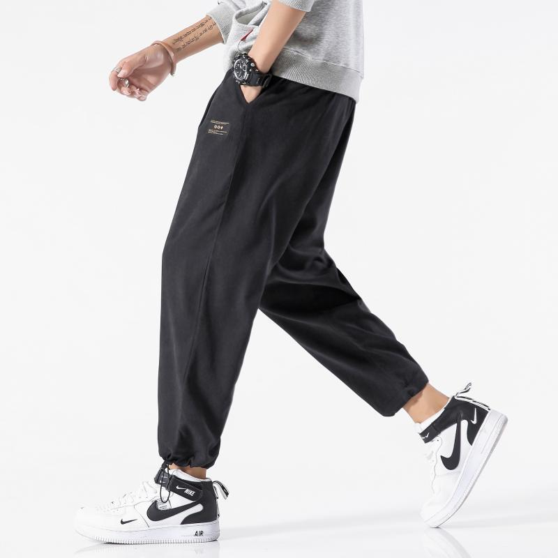 Autumn Clothing Bib Overall Men's Loose And Plus-sized Men Capri Casual Athletic Pants Thin 2 Trend 9308-p35