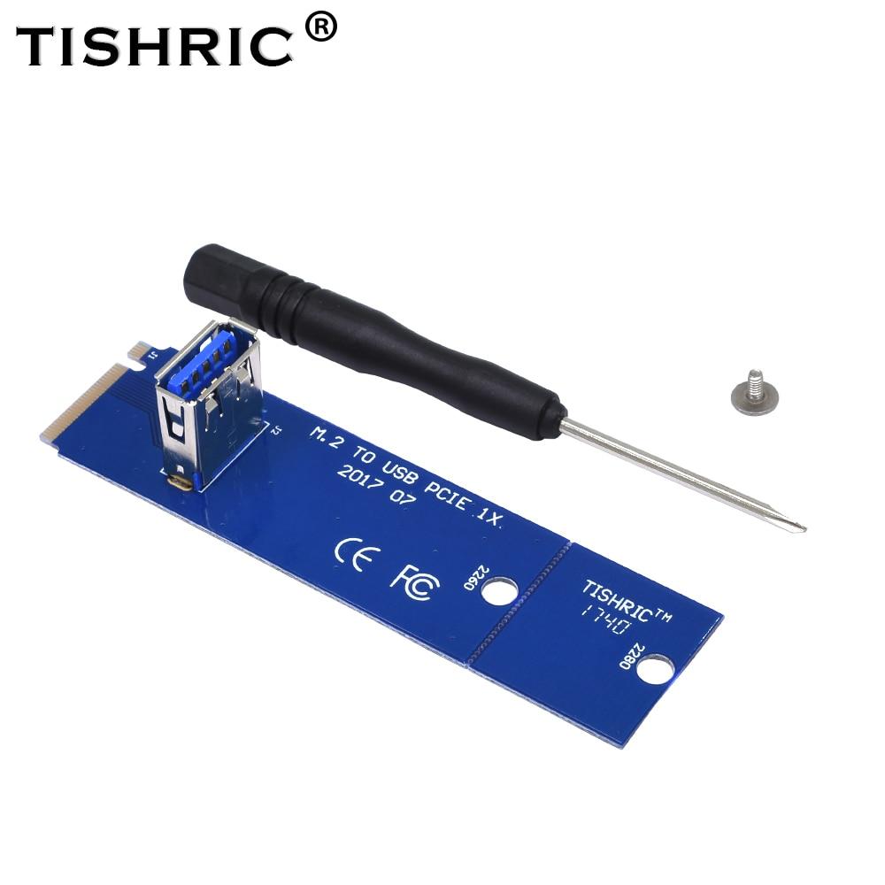 10Pcs TISHRIC NGFF M.2 To USB 3.0 Transfer Card PCIE Riser Card Key Motherboard Extender Adapter For BTC ETH Miner Mining 1