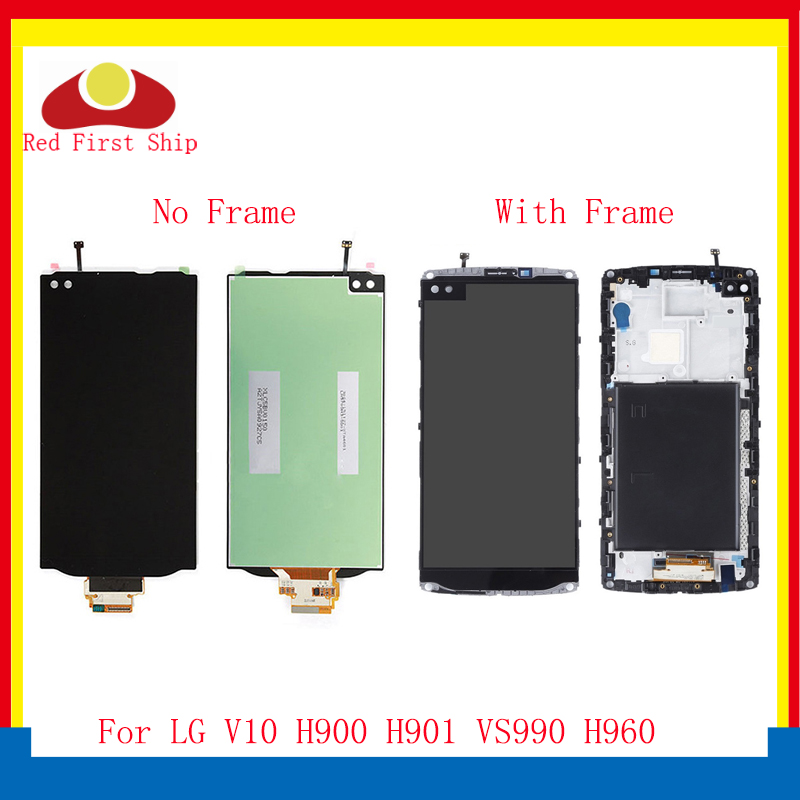 10Pcs/lot 5.7'' For <font><b>LG</b></font> <font><b>V10</b></font> LCD <font><b>Display</b></font> Touch Screen Digitizer Assembly With Frame H960 H968 H900 VS990 LCD Complete OEM image