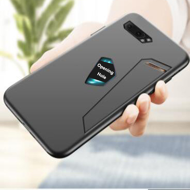 For Asus ROG Phone II Case TPU Phone Cases For Asus ROG Phone 2 Phone2 Phoneii Protection Cover + Tempered Glass Film