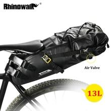 Rhinowalk Bolsa impermeable para sillín de bicicleta, accesorio para equipaje trasero, totalmente a prueba de agua, para ciclismo de ruta o montaña, 10L, 13L