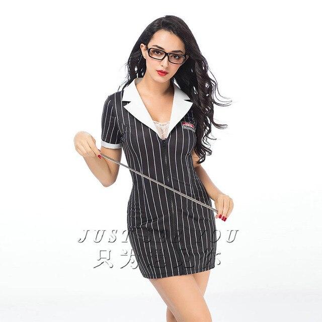 JSY Porno kobiety nauczyciel Cosplay bielizna Babydoll seksowna gorąca erotyczna odzież seksowna piżama bielizna erotyczna typu Babydoll Porno kostiumy
