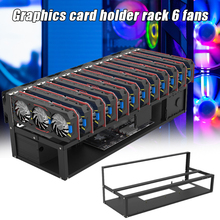 Up-To-12-Gpu Rig-Case Mining-Frame Coin-Currency-Mining Opening Crypto Steel