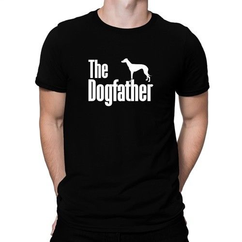 The Dogfather Greyhound T-shirt High Quality Printed Tshirt Men Cotton Short Sleeved T Shirt Summer Top Camisetas Hombre