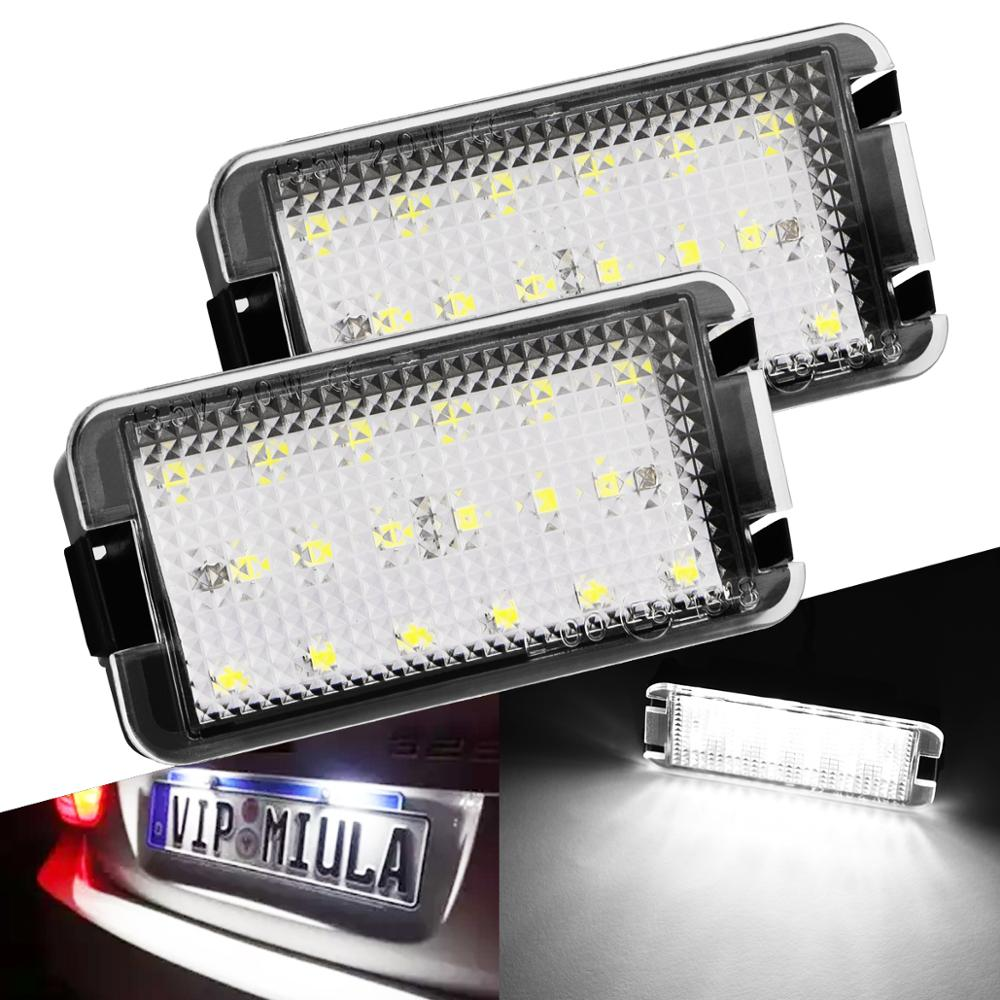 2x LED Tail Number License Plate Lights Lamps Error Free For Seat Ibiza 6L Ab For Seat Altea CORDOBA/LEON/Toledo III 2004-2009