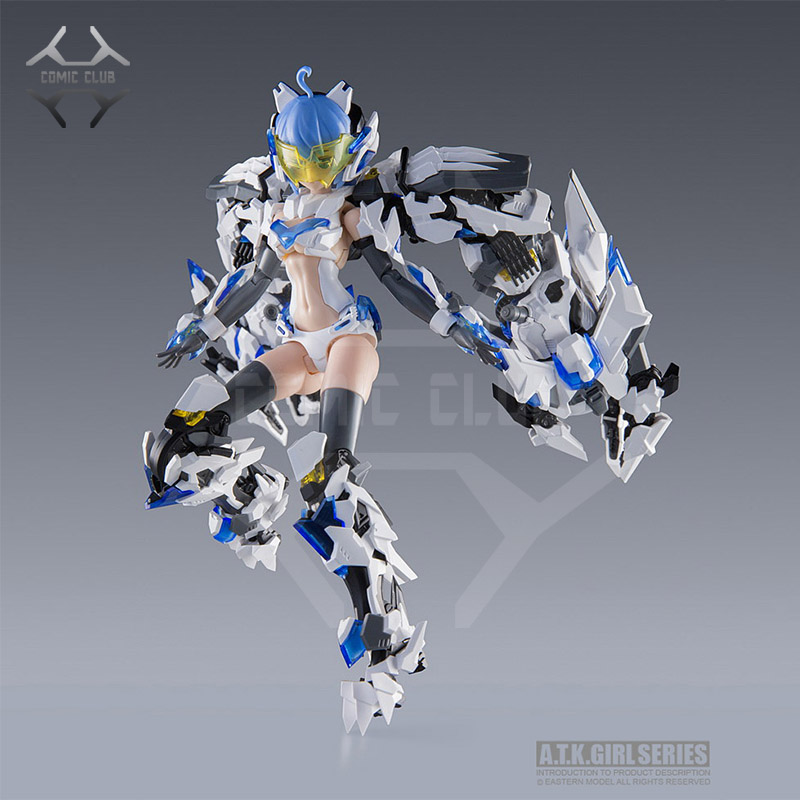 COMIC CLUB IN-STOCK 1/12 Frame Arms A.T.K Girl DIVINE BEASTS-BAIHU By E-model Assembly Action Robot Toys Figure