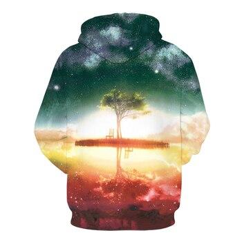 Hot Sale 3D Printed Hoodies Men Women Printed Sweatshirts Tree Funny Pullover oversized hoodie Male Tracksuit Jacket Outwear 2